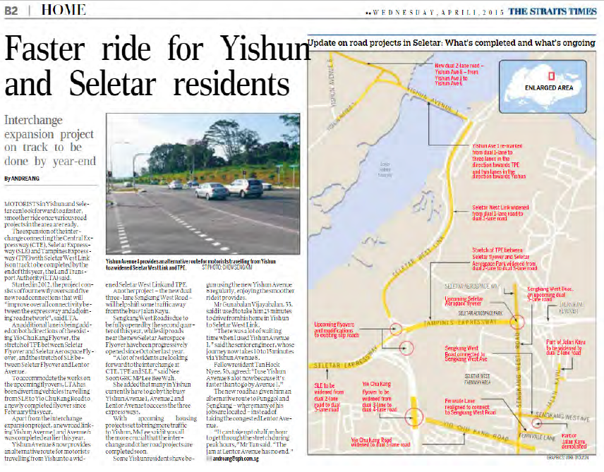 Faster ride for Yishun and Seletar residents