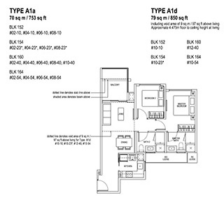 2 Bedroom Type A1a & A1d