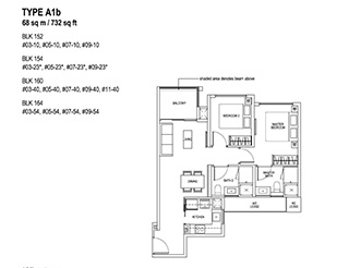 2 Bedroom Type A1b