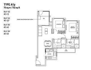 2 Bedroom Type A1p