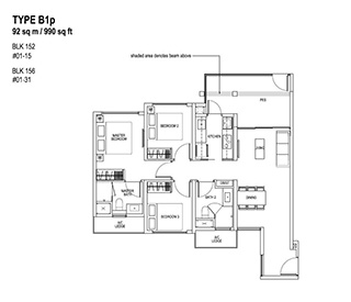 2 Bedroom Type B1p