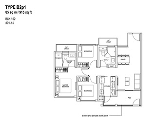 3 Bedroom Type B2p1
