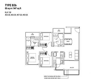 3 Bedroom Type B3b