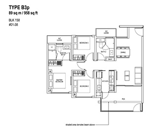 3 Bedroom Type B3p