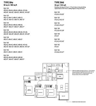 3 Bedroom Type B4a & B4d