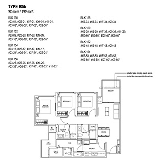 3 Bedroom Type B5b