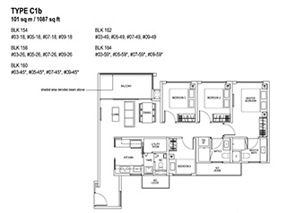 4 Bedroom Type C1b