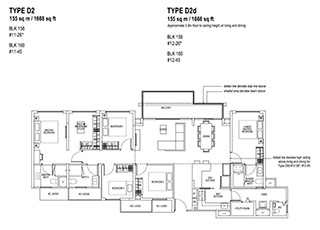 5 Bedroom Type D2 & D2d