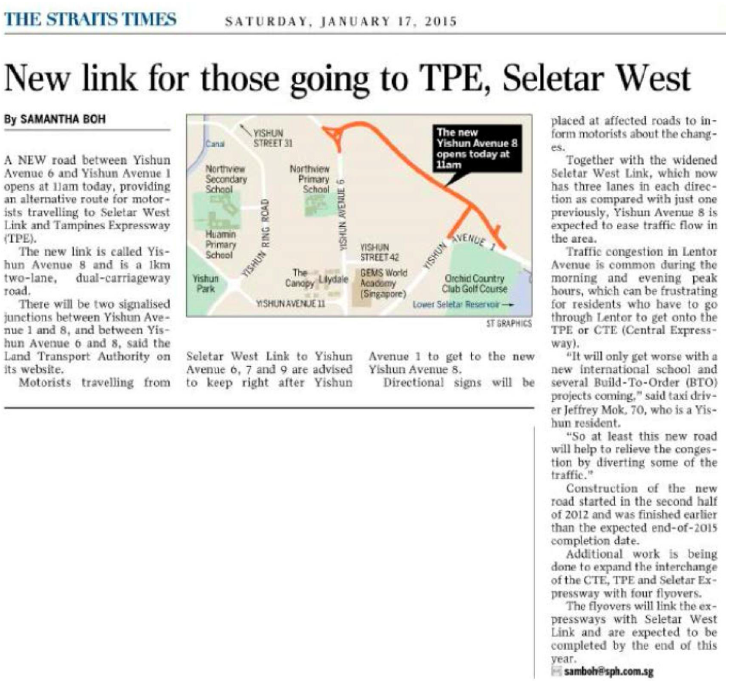 New Link to TPE and Seletar West